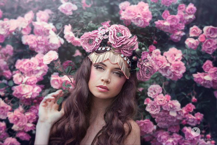 fashion beauty flowers roses headdress